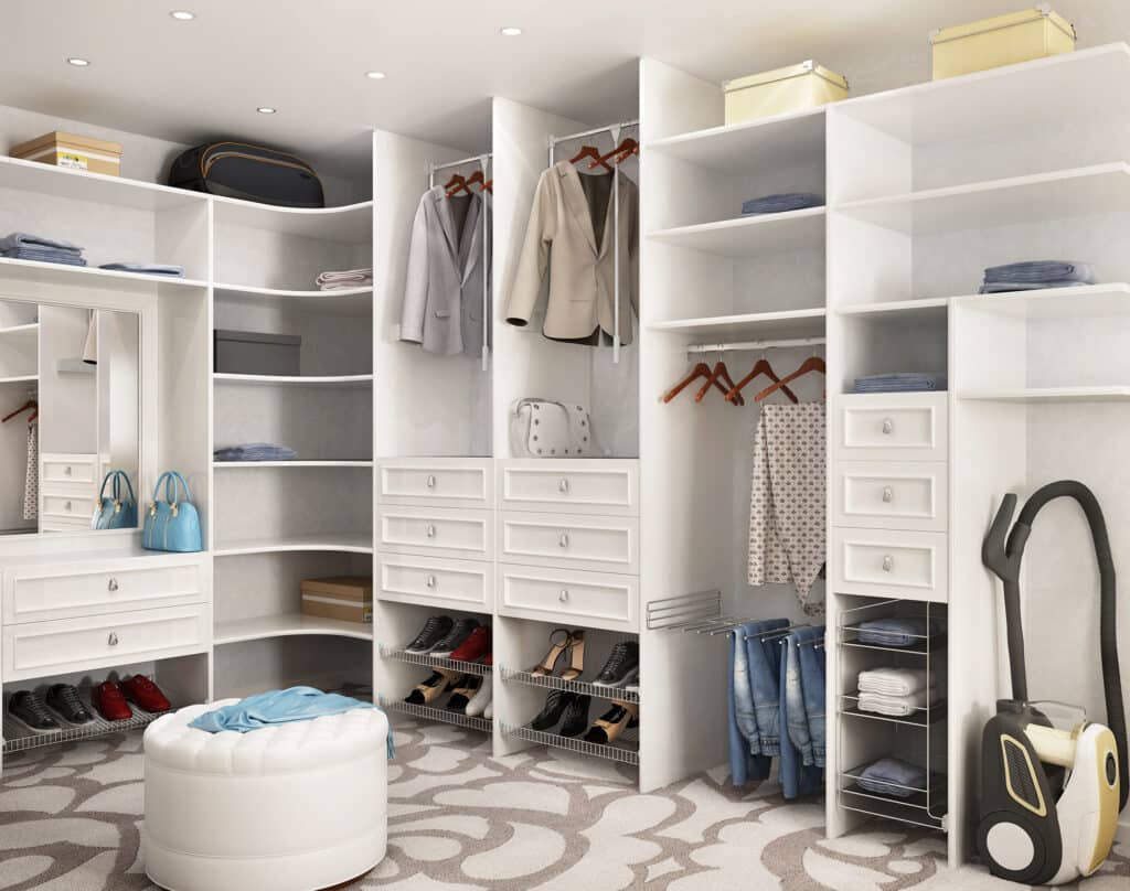 Bedroom walk in closet